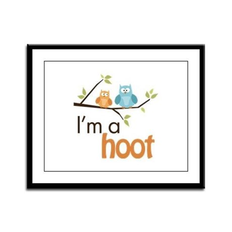 I'm A Hoot Framed Panel Print