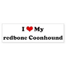 I Love redbone Coonhound Bumper Bumper Sticker