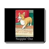 """STEPPIN' OUT"" (with copy) Mousepad"