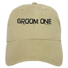 Groom one funny wedding Baseball Cap