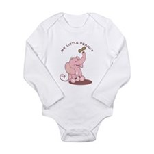 My Little Peanut - Pink Long Sleeve Infant Bodysui
