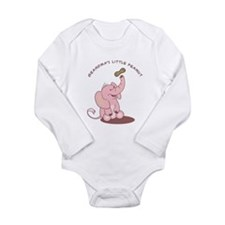 Grandma's Little Peanut - Pink Long Sleeve Infant