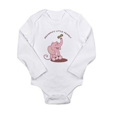 Grandpa's Little Peanut - Pink Long Sleeve Infant