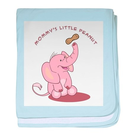 Mommy's Little Peanut - Pink baby blanket