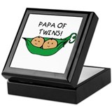 Papa of Twins Pod Keepsake Box
