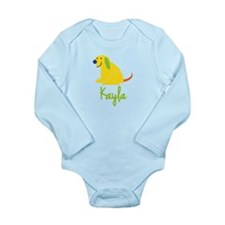 Kayla Loves Puppies Long Sleeve Infant Bodysuit
