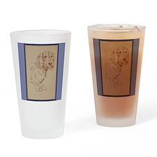 Wirehaired Dachshund Dog Art Drinking Glass