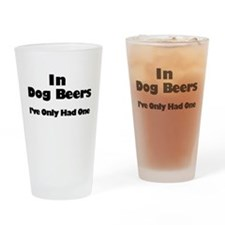 Cute Beer Drinking Glass