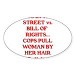 PIGS IN THE STREET vs. THE BI Sticker (Oval 10 pk)