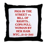 PIGS IN THE STREET vs. THE BI Throw Pillow