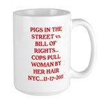 PIGS IN THE STREET vs. THE BI Large Mug