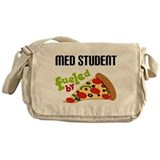 Med Student Funny Pizza Messenger Bag