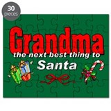 Grandma, The Next Best Thing To Santa Puzzle