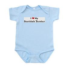 I Love Scottish Terrier Infant Creeper