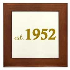 Est. 1952 (Birth Year) Framed Tile