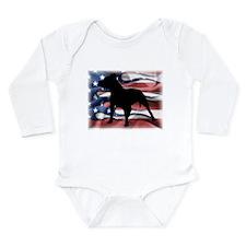 Pit Patriot Long Sleeve Infant Bodysuit