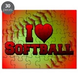 I Love Softball (Optic Yellow) Puzzle