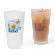 Rocky Mountain Goat Drinking Glass