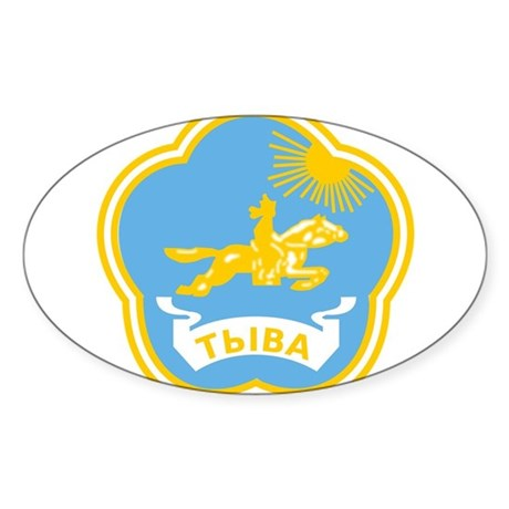 Tuvan Coat of Arms Sticker (Oval)