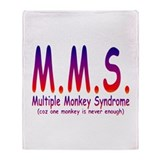 Multiple Monkey Syndrome Throw Blanket