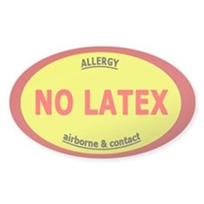No Latex / Latex Allergy Stickers