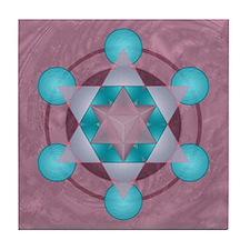 Merkaba Mandala Tile Coaster