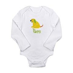 Patti Loves Puppies Long Sleeve Infant Bodysuit