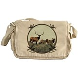 Monster bull elk elkahalic Messenger Bag