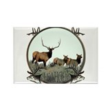 Monster bull elk elkahalic Rectangle Magnet (100 p