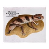 Banded Knob-Tailed Gecko Throw Blanket