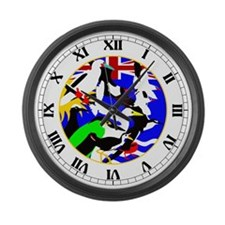 Diego Garcia Birds Large Wall Clock