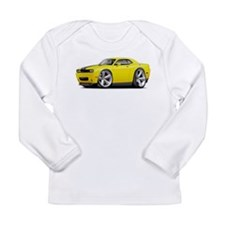 Challenger SRT8 Yellow Car Long Sleeve Infant T-Sh
