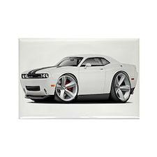 Challenger SRT8 White Car Rectangle Magnet