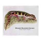 Desert Banded Gecko Throw Blanket