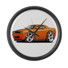 Challenger SRT8 Orange Car Large Wall Clock