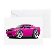Challenger SRT8 Fuschia Car Greeting Card