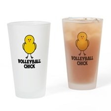 Volleyball Chick Drinking Glass