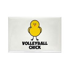 Volleyball Chick Rectangle Magnet (100 pack)