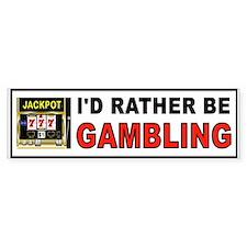 Cute Video poker gambling Bumper Sticker