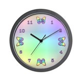 Iridescent Butterfly Wall Clock