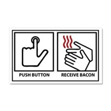 Bacon Dispenser Car Magnet 20 x 12
