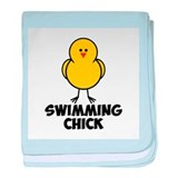 Swimming Chick baby blanket