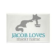 Jacob Loves Rectangle Magnet