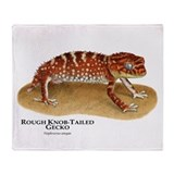 Rough Knob-Tailed Gecko Throw Blanket