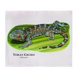 Tokay Gecko Throw Blanket