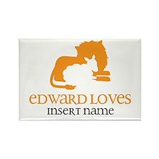 Edward Loves Rectangle Magnet