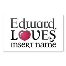 Edward Loves Bumper Stickers