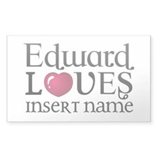 Edward Loves Decal