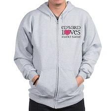 Edward Loves Zip Hoodie