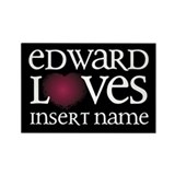 Edward Loves Rectangle Magnet